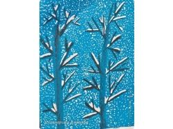 Рисунки детей о зиме 1