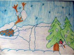Рисунки детей о зиме 2