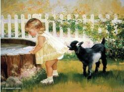 Картины с изображением детей 4