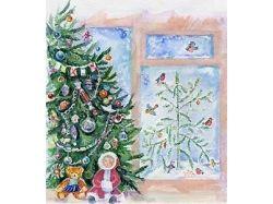 Рождество рисунки детей 3