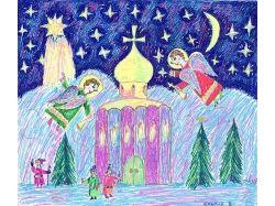 Рождество рисунки детей 4