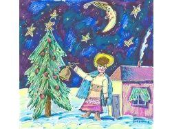 Рождество рисунки детей 6