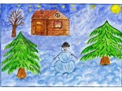 Рождество рисунки детей 7