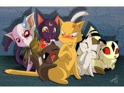 Кошки аниме картинки 4