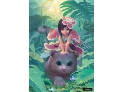 Кошки аниме картинки 6