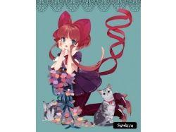 Кошки аниме картинки 7