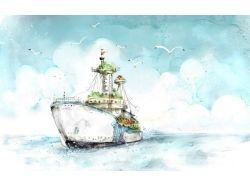 Корабль рисунок 7