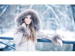 Фото женщины зимой