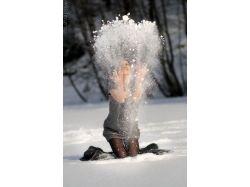 Фото женщины зимой 6