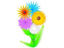 Нарисованный букет цветов 4