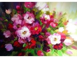 Нарисованный букет цветов 6