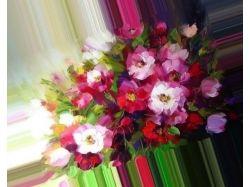 Нарисованный букет цветов 8