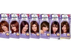Палитра оттенков краски для волос палет 1