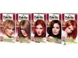 Палитра оттенков краски для волос палет 3