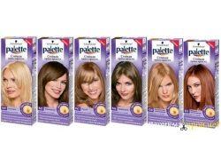 Палитра оттенков краски для волос палет 5