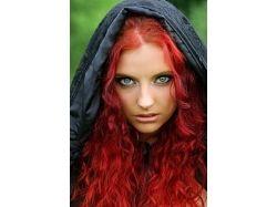 Темный рыжий цвет волос фото 2