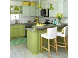 Кухни фисташкового цвета фото 3