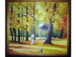 Осень картины маслом