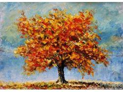 Осень картины маслом 2