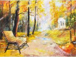 Осень картины маслом 3