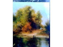 Осень картины маслом 4