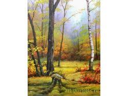 Осень картины маслом 5