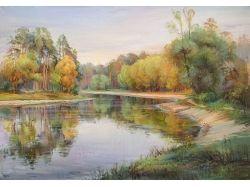 Осень картины маслом 8