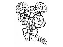 Раскраски цветы букеты 1
