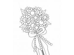 Раскраски цветы букеты 7