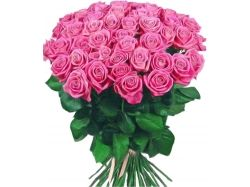 Розовые розы букет 2