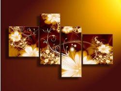 Картины цветы абстракция