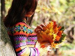 Картинки девушки и осень