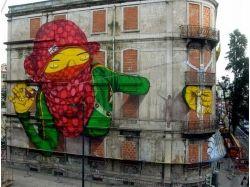 Прикольные граффити