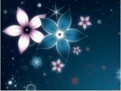 Цветы на синем фоне картинки
