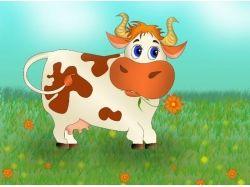 Картинки для детей корова