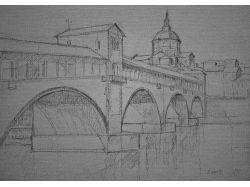 Рисунки карандашом города