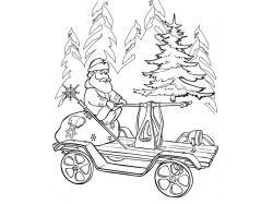 Дед мороз картинки раскраски