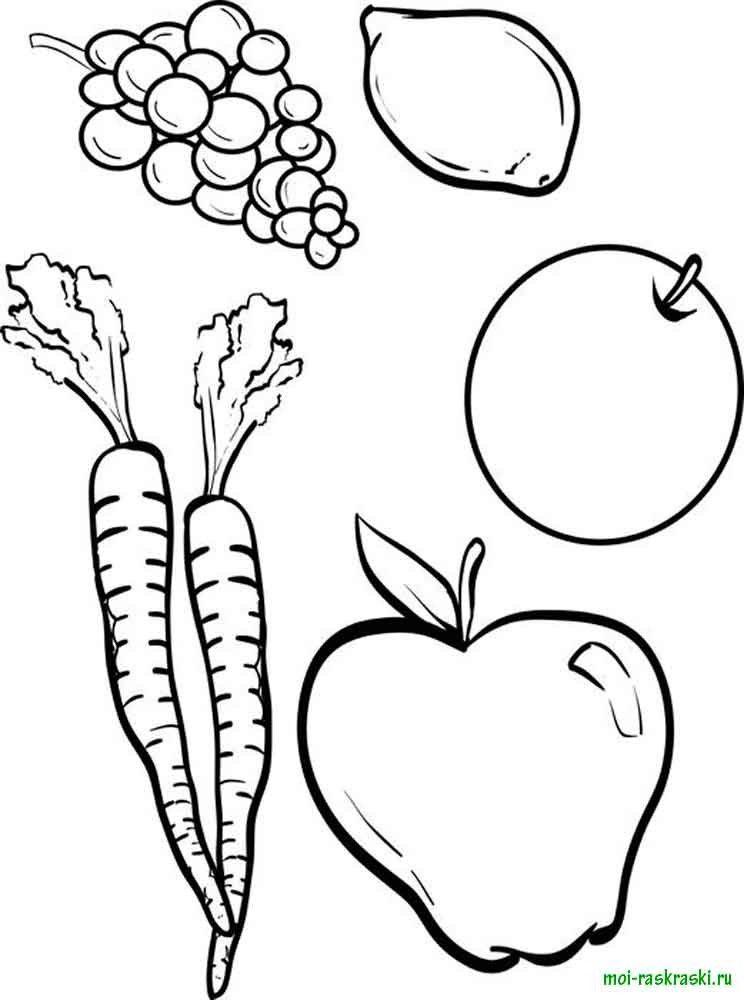 Надписи, картинки на тему фрукты раскраска