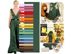 Сочетание цветов зеленый