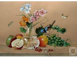 Толстой цветы фрукты