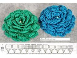 Вязание цветов крючком схемы