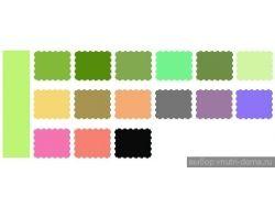 Сочетание цветов таблица 6