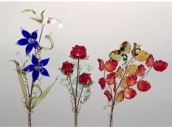 Стекло цветы