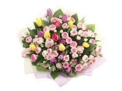Картинки цветы красивые букеты тюльпанов
