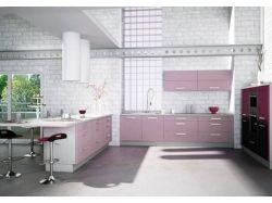 Кухни сиреневого цвета фото