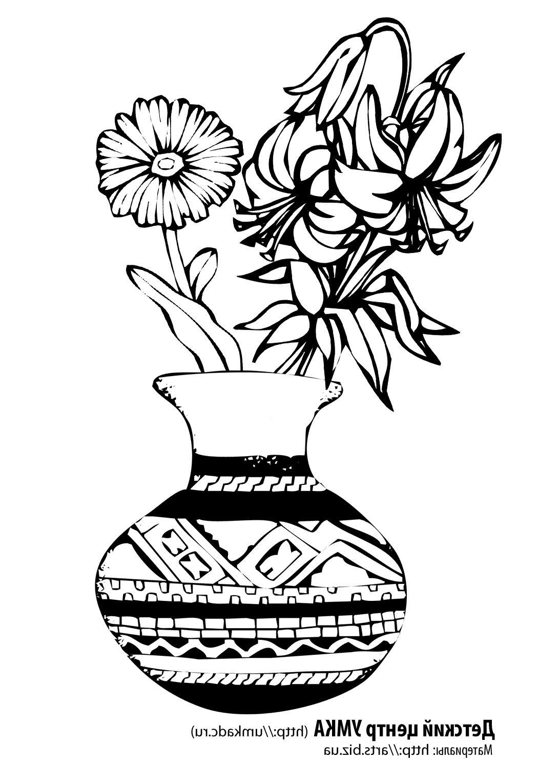 Картинки для срисовки на вазу