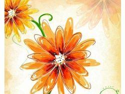 Нарисованный цветок картинки