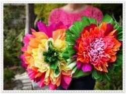 Сделать цветы из бумаги фото 2