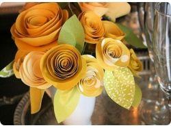 Сделать цветы из бумаги фото 4