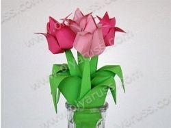 Сделать цветы из бумаги фото 8
